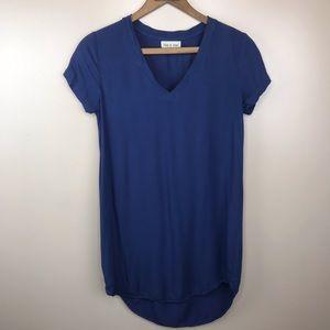 Cloth & Stone v neck Tunic Dress XS Navy Blue